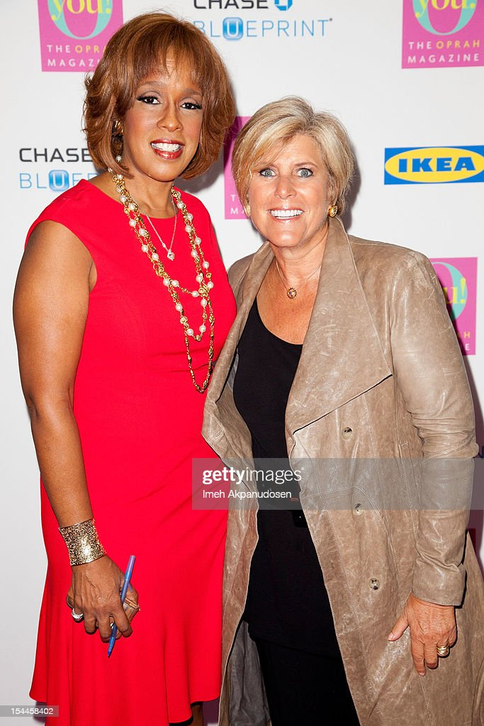 TV personality Gayle King (L) and financial advisor/TV personality Suze Orman attend O, The Oprah Magazine's O You! Event at Los Angeles Convention Center on October 20, 2012 in Los Angeles, California.