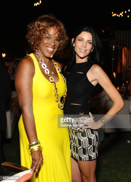 TV personality Gayle King and model and designer Liberty Ross attends GENETIC x Liberty Ross Launch on August 22 2014 in Beverly Hills California