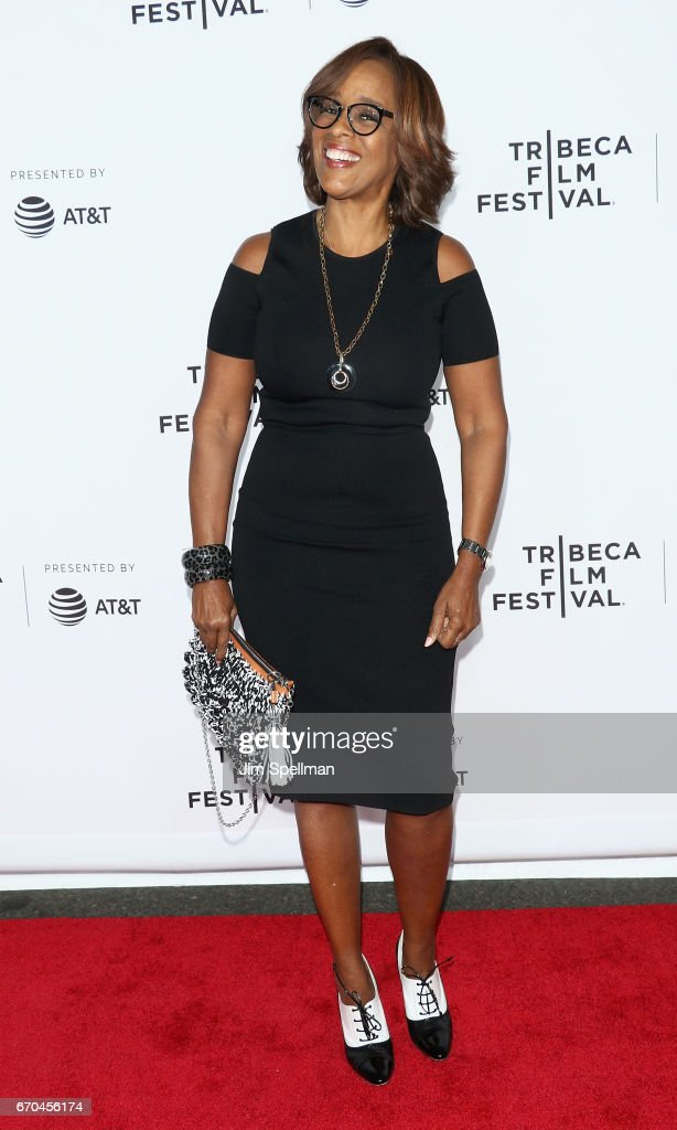 TV personality Gayle King attends the 2017 Tribeca Film Festival - 'Clive Davis: The Soundtrack Of Our Lives' world premiere - opening night at Radio City Music Hall on April 19, 2017 in New York City.