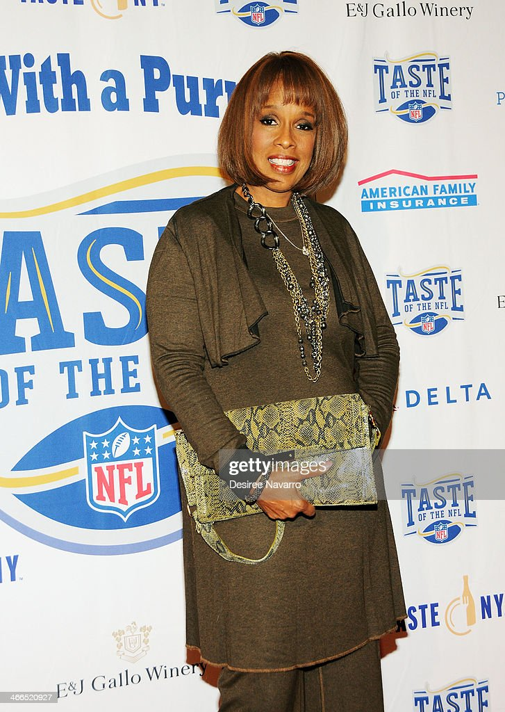 TV personality <a gi-track='captionPersonalityLinkClicked' href=/galleries/search?phrase=Gayle+King&family=editorial&specificpeople=215469 ng-click='$event.stopPropagation()'>Gayle King</a> attends the 23rd Annual Super Bowl Party With A Purpose at Brooklyn Cruise Terminal on February 1, 2014 in New York City.