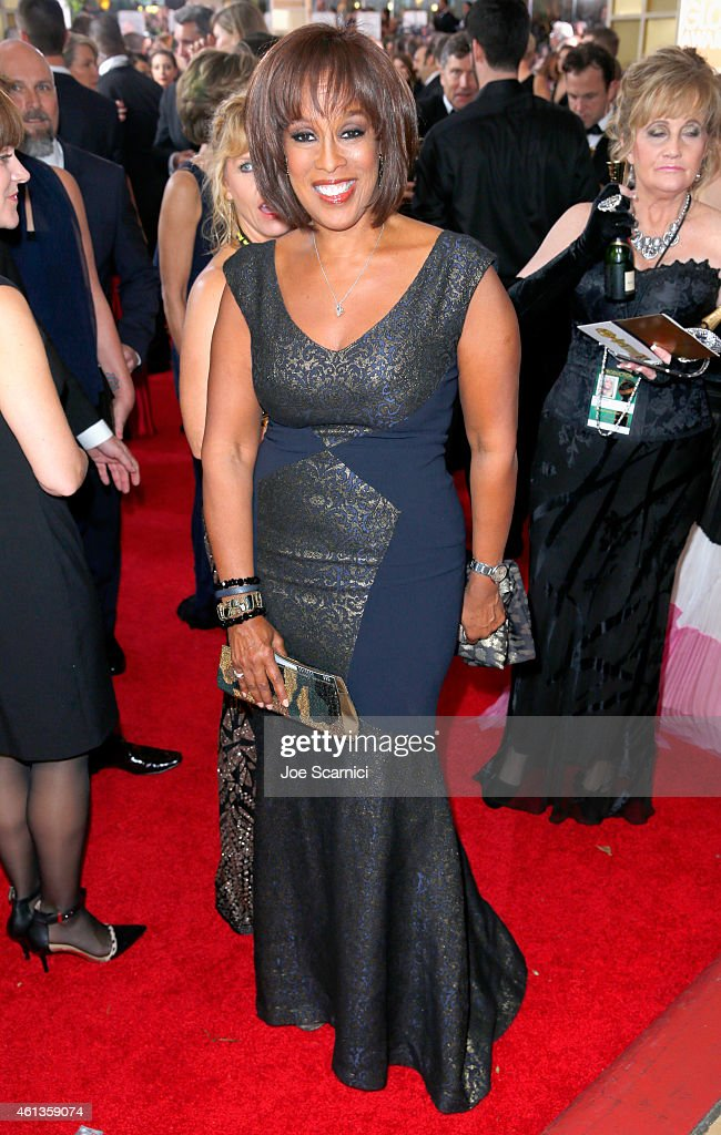 TV personality Gayle King attends the 72nd Annual Golden Globe Awards at The Beverly Hilton Hotel on January 11, 2015 in Beverly Hills, California.