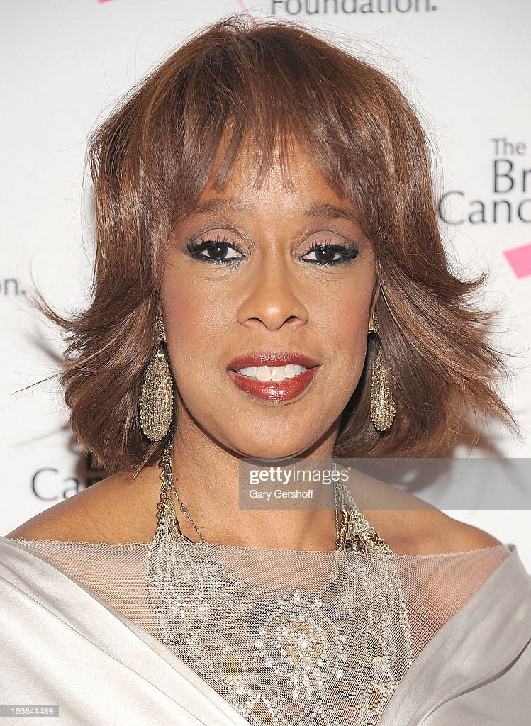 TV personality Gayle King attends The Breast Cancer Research Foundation's 2013 Hot Pink Party at The Waldorf=Astoria on April 17, 2013 in New York City.