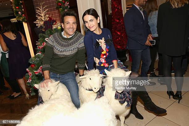 TV personality George Kotsiopoulos and Camilla Belle attend Brooks Brothers holiday celebration with St Jude Children's Research Hospital on December...