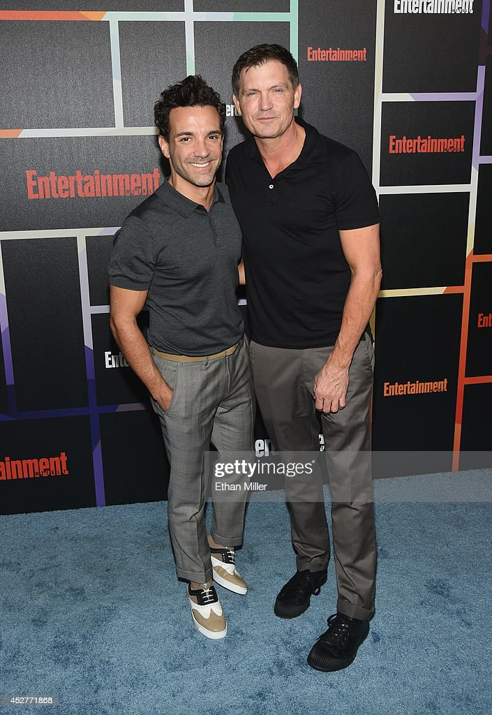 TV personality George Kotsiopoulos (L) attends Entertainment Weekly's annual Comic-Con celebration at Float at Hard Rock Hotel San Diego on July 26, 2014 in San Diego, California.