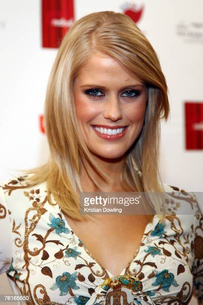 Personality Georgia Sinclair arrives for the 2007 Red Ball fundraising event for the Bone Marrow Donor Institute at Peninsula on August 18 2007 in...