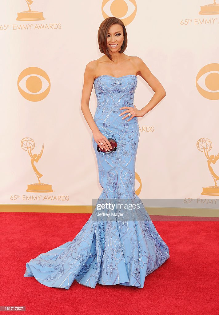 TV personality Giuliana Rancic arrives at the 65th Annual Primetime Emmy Awards at Nokia Theatre L.A. Live on September 22, 2013 in Los Angeles, California.