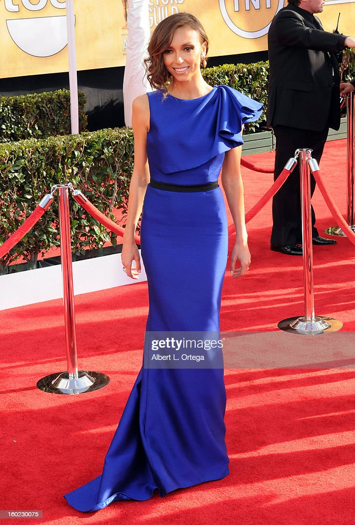 TV personality Giuliana Rancic arrives for the 19th Annual Screen Actors Guild Awards - Arrivals held at The Shrine Auditorium on January 27, 2013 in Los Angeles, California.