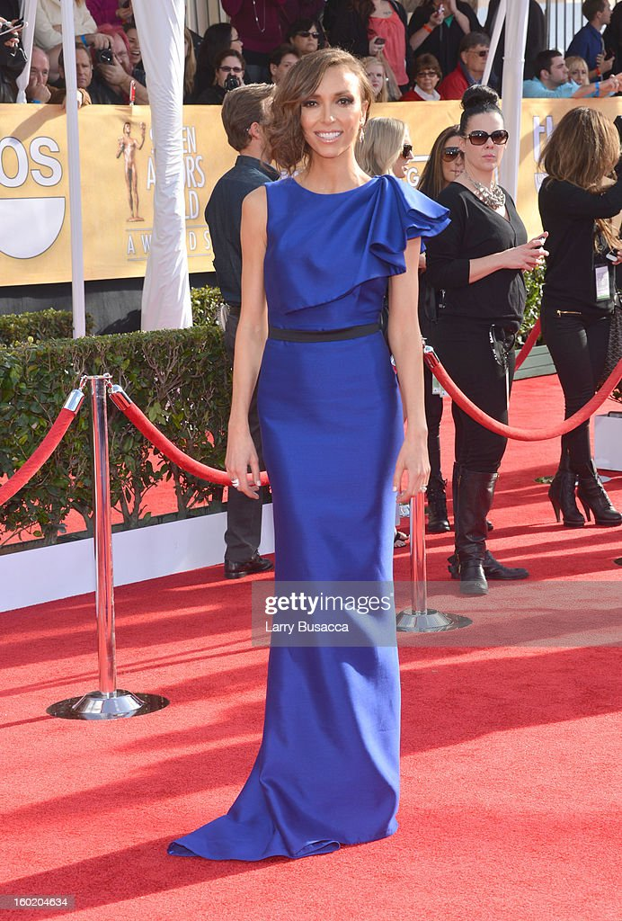 TV personality Giuliana Rancic attends the 19th Annual Screen Actors Guild Awards at The Shrine Auditorium on January 27, 2013 in Los Angeles, California. (Photo by Larry Busacca/WireImage) 23116_018_0058.JPG