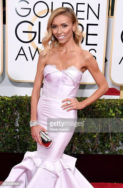 TV personality Giuliana Rancic attends the 72nd Annual Golden Globe Awards at The Beverly Hilton Hotel on January 11 2015 in Beverly Hills California