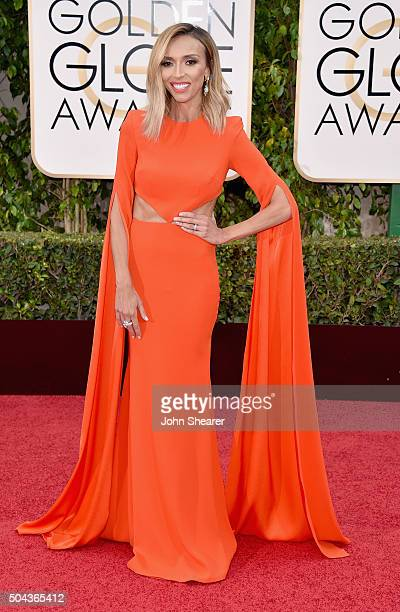 TV personality Giuliana Rancic attends the 73rd Annual Golden Globe Awards held at the Beverly Hilton Hotel on January 10 2016 in Beverly Hills...