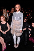 TV personality Giuliana Rancic attends the Dennis Basso fashion show during MercedesBenz Fashion Week Fall 2014 at The Theatre at Lincoln Center on...