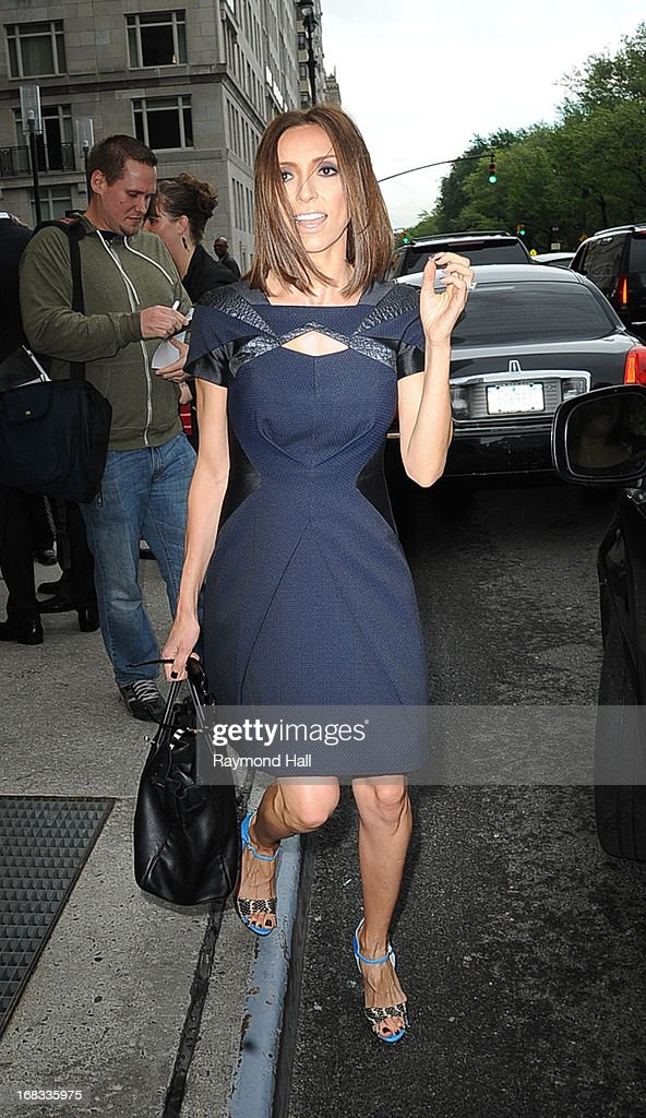 TV personality Giuliana Rancic is seen outside Trump Hotel on May 8, 2013 in New York City.