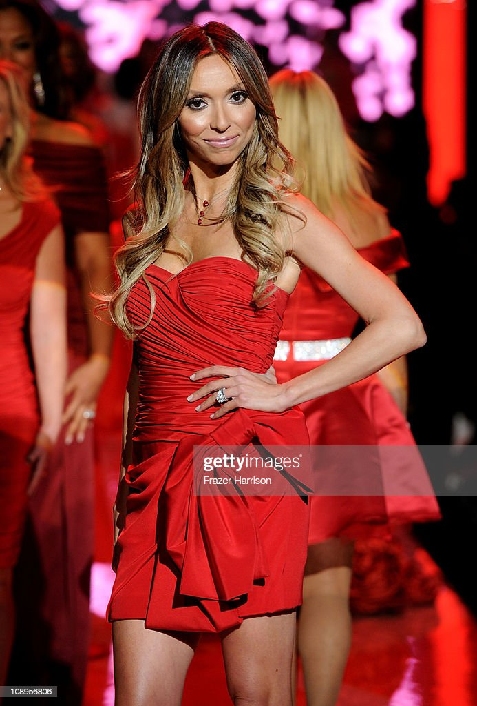 TV personality Giuliana Rancic walks the runway at the Heart Truth Fall 2011 fashion show during Mercedes-Benz Fashion Week at The Theatre at Lincoln Center on February 9, 2011 in New York City.