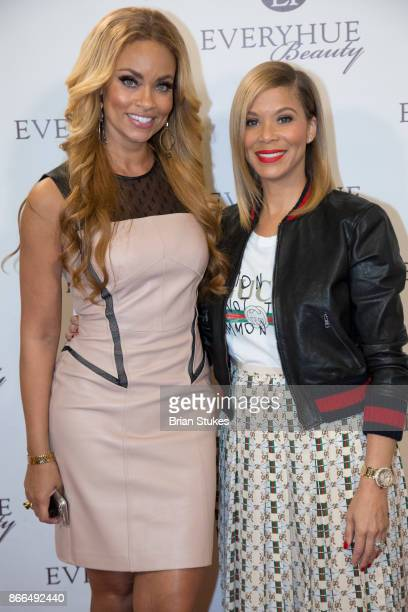 TV personality Gizelle Bryant and Erika Liles attend Every Hue Beauty PopUp at The Showroom on October 25 2017 in Washington DC
