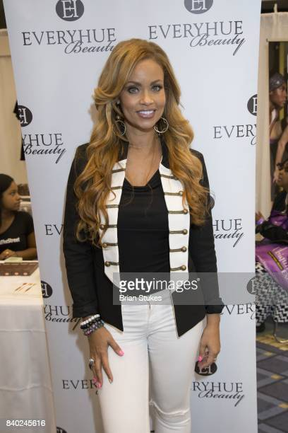TV personality Gizelle Bryant attends Day 2 of the '2017 Ubiquitous Beauty Hair Health Expo' at Walter E Washington Convention Center on August 27...