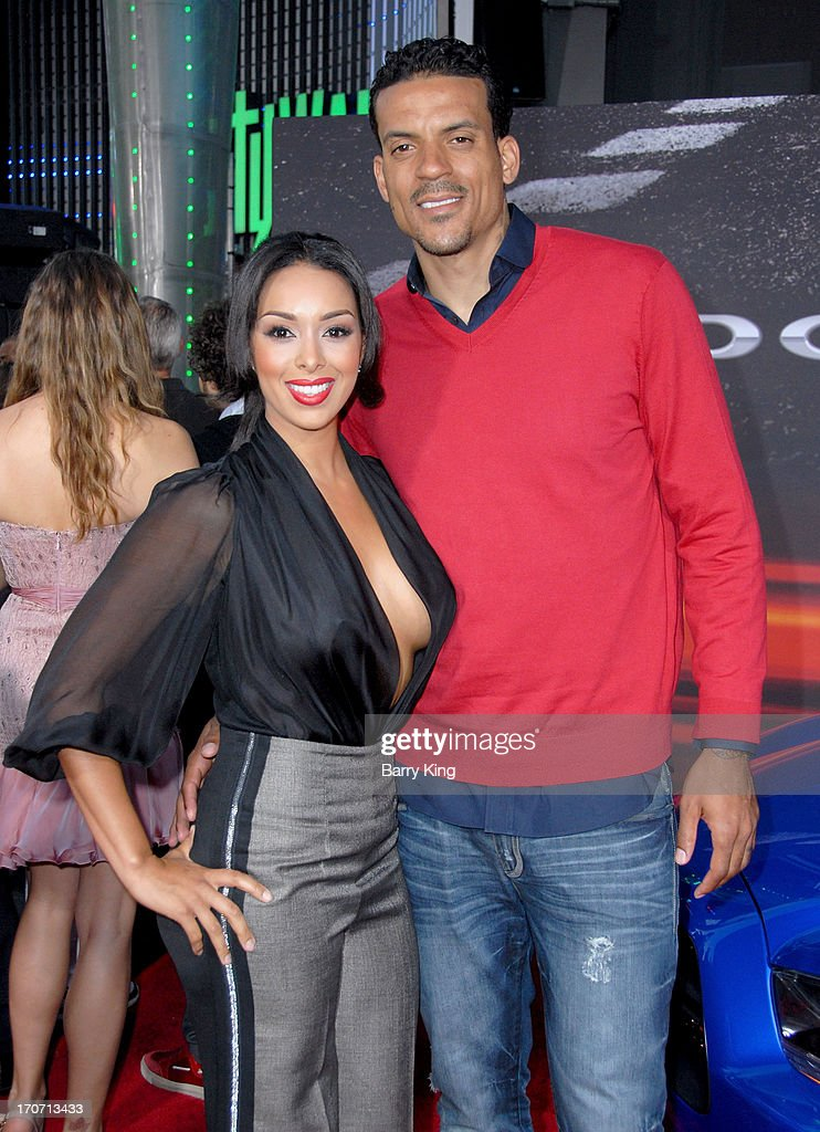 TV personality <a gi-track='captionPersonalityLinkClicked' href=/galleries/search?phrase=Gloria+Govan&family=editorial&specificpeople=7070564 ng-click='$event.stopPropagation()'>Gloria Govan</a> (L) and professional basketball player <a gi-track='captionPersonalityLinkClicked' href=/galleries/search?phrase=Matt+Barnes+-+Basketball+Player&family=editorial&specificpeople=202880 ng-click='$event.stopPropagation()'>Matt Barnes</a> attend the premiere of 'Fast & Furious 6' at Universal CityWalk on May 21, 2013 in Universal City, California.