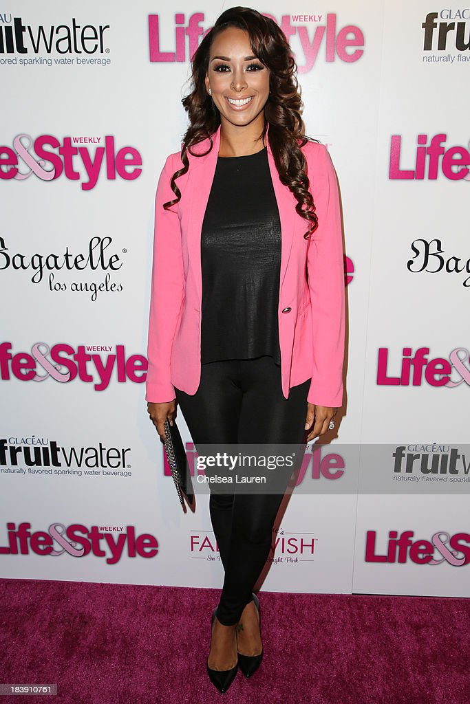 TV personality Gloria Govan arrives at Life & Style's Hollywood in Bright Pink event hosted by Giuliana Rancic at Bagatelle on October 9, 2013 in Los Angeles, California.
