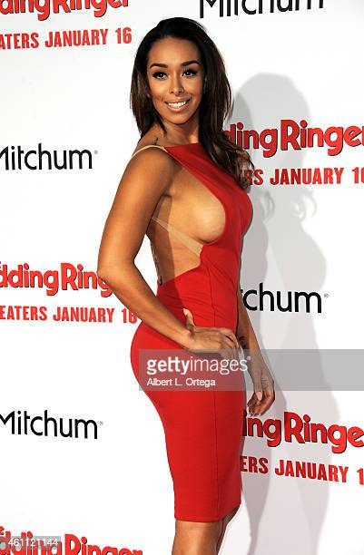 TV personality Gloria Govan arrives for the Premiere Of Screen Gems' 'The Wedding Ringer' held at TCL Chinese Theatre on January 6 2015 in Hollywood...