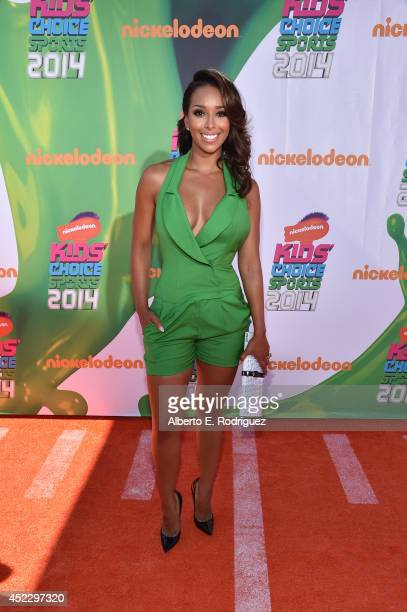 TV personality Gloria Govan attends Nickelodeon Kids' Choice Sports Awards 2014 at UCLA's Pauley Pavilion on July 17 2014 in Los Angeles California