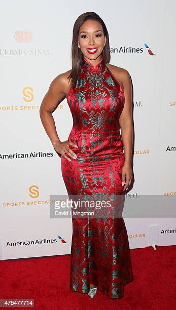 TV personality Gloria Govan attends the CedarsSinai Sports Spectacular at the Hyatt Regency Century Plaza on May 31 2015 in Century City California