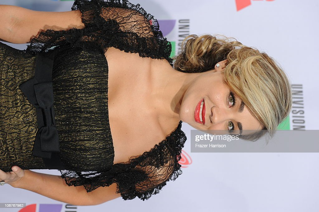 TV personality Gloria Ordaz arrives at the 11th annual Latin GRAMMY Awards at the Mandalay Bay Resort & Casino on November 11, 2010 in Las Vegas, Nevada.