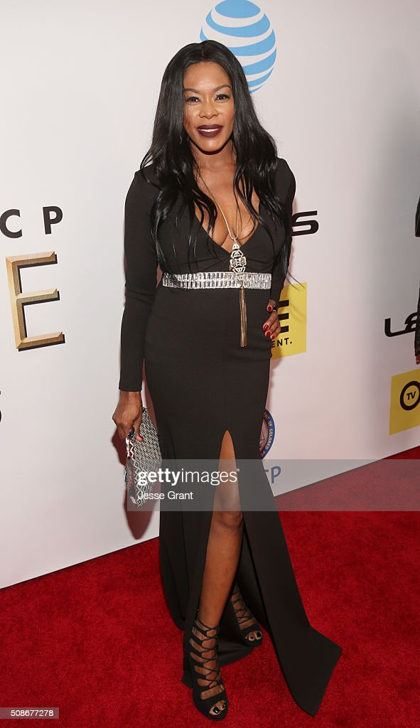 TV personality Golden Brooks attends the 47th NAACP Image Awards presented by TV One at Pasadena Civic Auditorium on February 5, 2016 in Pasadena, California.