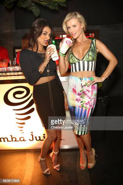 TV personality Golnesa 'GG' Gharachedaghi and model/TV personality Joanna Krupa attend OK Magazine's So Sexy LA Event at LURE on May 21 2014 in Los...
