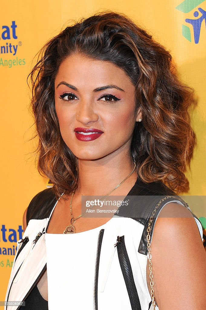 TV personality Golnesa 'GG' Gharachedaghi attends the celebrity premiere of Ringling Bros. and Barnum & Bailey's 'Built To Amaze!' tour at Staples Center on July 11, 2013 in Los Angeles, California.