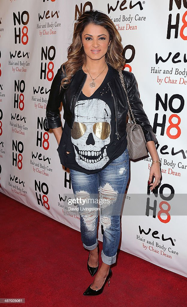 TV personality Golnesa 'GG' Gharachedaghi attends the NOH8 Campaign 5th Anniversary Celebration at Avalon on December 15, 2013 in Hollywood, California.