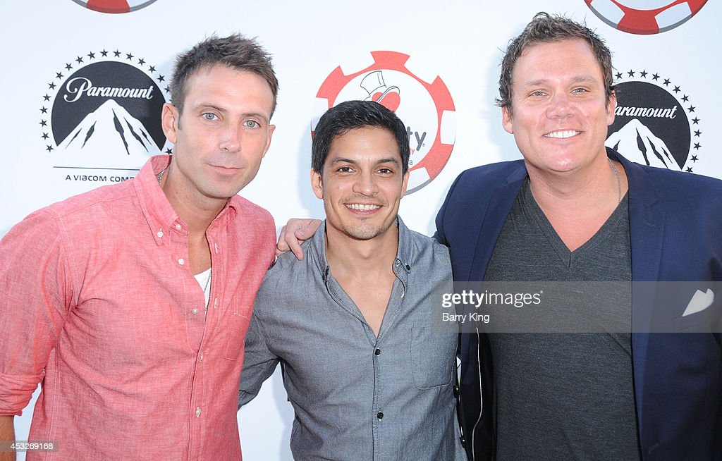 TV personality Graham Bunn, actor <a gi-track='captionPersonalityLinkClicked' href=/galleries/search?phrase=Nicholas+Gonzalez&family=editorial&specificpeople=215254 ng-click='$event.stopPropagation()'>Nicholas Gonzalez</a> and TV personality <a gi-track='captionPersonalityLinkClicked' href=/galleries/search?phrase=Bob+Guiney&family=editorial&specificpeople=212916 ng-click='$event.stopPropagation()'>Bob Guiney</a> attend the 4th annual Variety's Texas Hold 'Em poker tournament to benefit 'The Children's Charity Of Southern California' at Paramount Studios on July 16, 2014 in Hollywood, California.