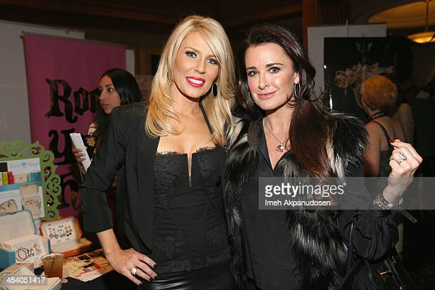 TV personality Gretchen Rossi and actress Kyle Richards attend KIIS FM's Jingle Ball 2013 gift suite at Staples Center on December 6 2013 in Los...