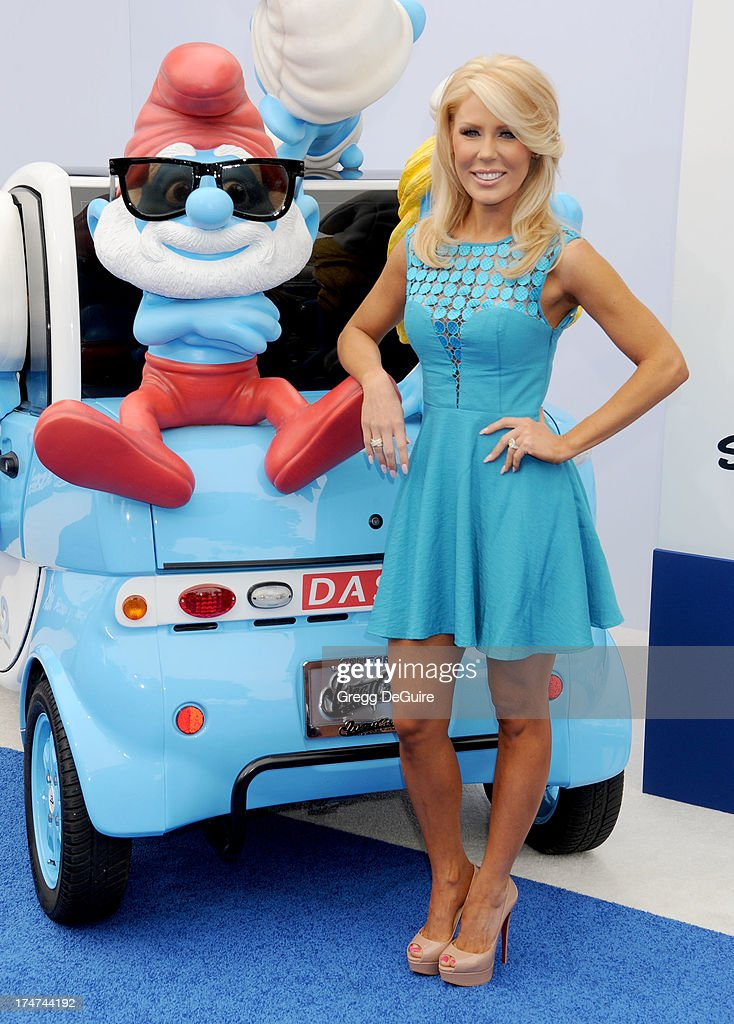 TV personality Gretchen Rossi arrives at the Los Angeles premiere of 'Smurfs 2' at Regency Village Theatre on July 28, 2013 in Westwood, California.