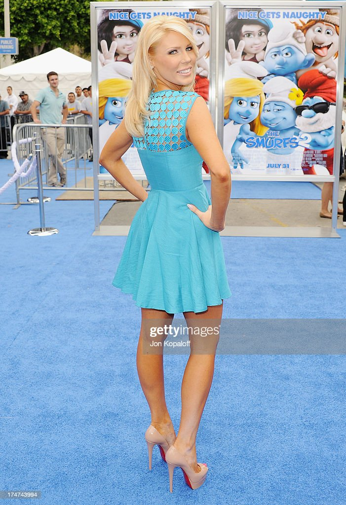 TV personality Gretchen Rossi arrives at the Los Angeles Premiere 'Smurfs 2' at Regency Village Theatre on July 28, 2013 in Westwood, California.