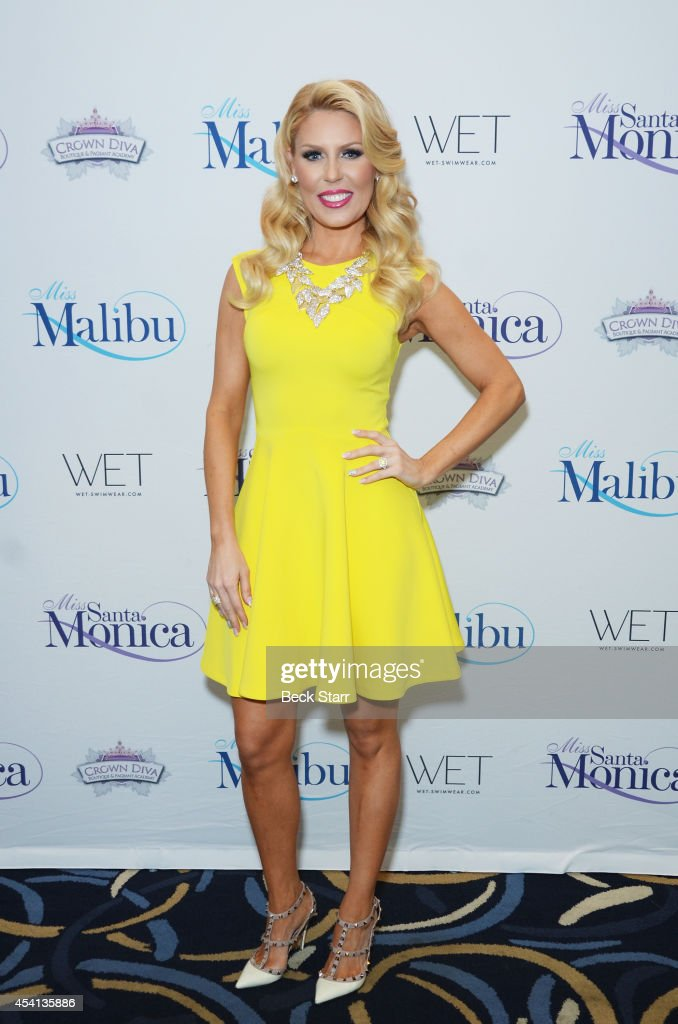 TV personality <a gi-track='captionPersonalityLinkClicked' href=/galleries/search?phrase=Gretchen+Rossi&family=editorial&specificpeople=5637804 ng-click='$event.stopPropagation()'>Gretchen Rossi</a> arrives at The Tenth Annual Miss Malibu and 3rd Annual Miss Beverly Hills Pageant at the Loews Santa Monica Beach Hotel on August 24, 2014 in Santa Monica, California.
