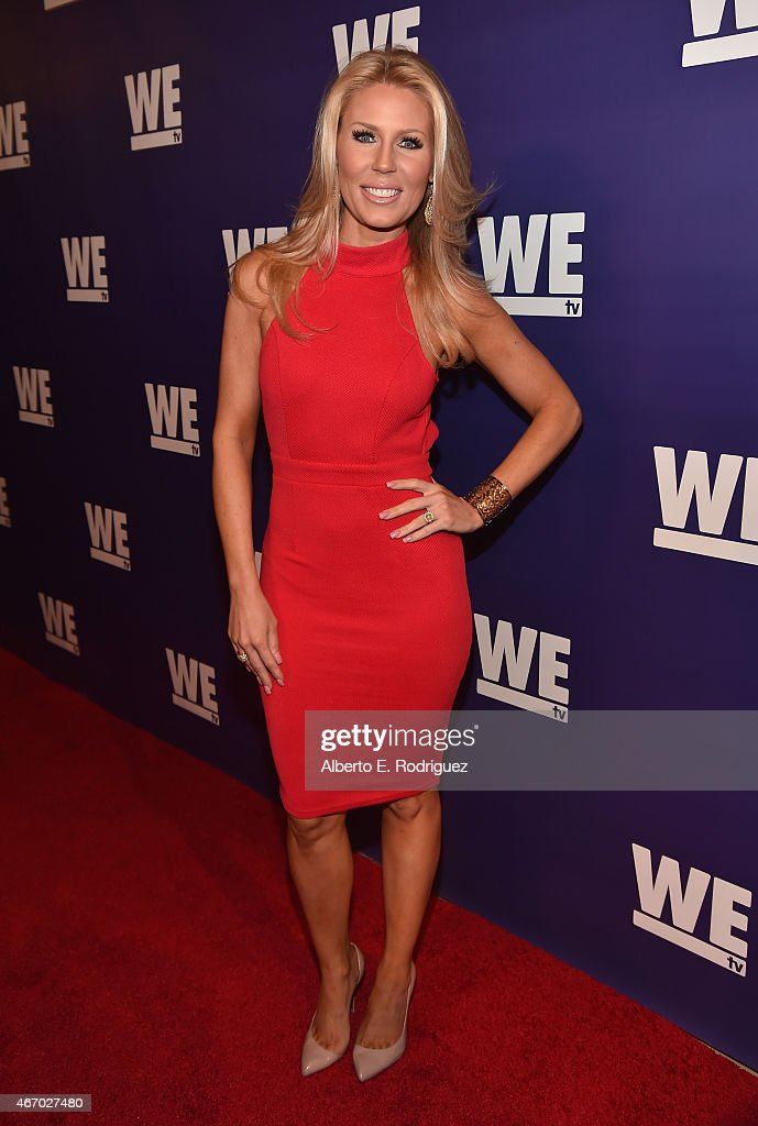 TV personality <a gi-track='captionPersonalityLinkClicked' href=/galleries/search?phrase=Gretchen+Rossi&family=editorial&specificpeople=5637804 ng-click='$event.stopPropagation()'>Gretchen Rossi</a> attends the WE tv presents 'The Evolution of The Relationship Reality Show' at The Paley Center for Media on March 19, 2015 in Beverly Hills, California.