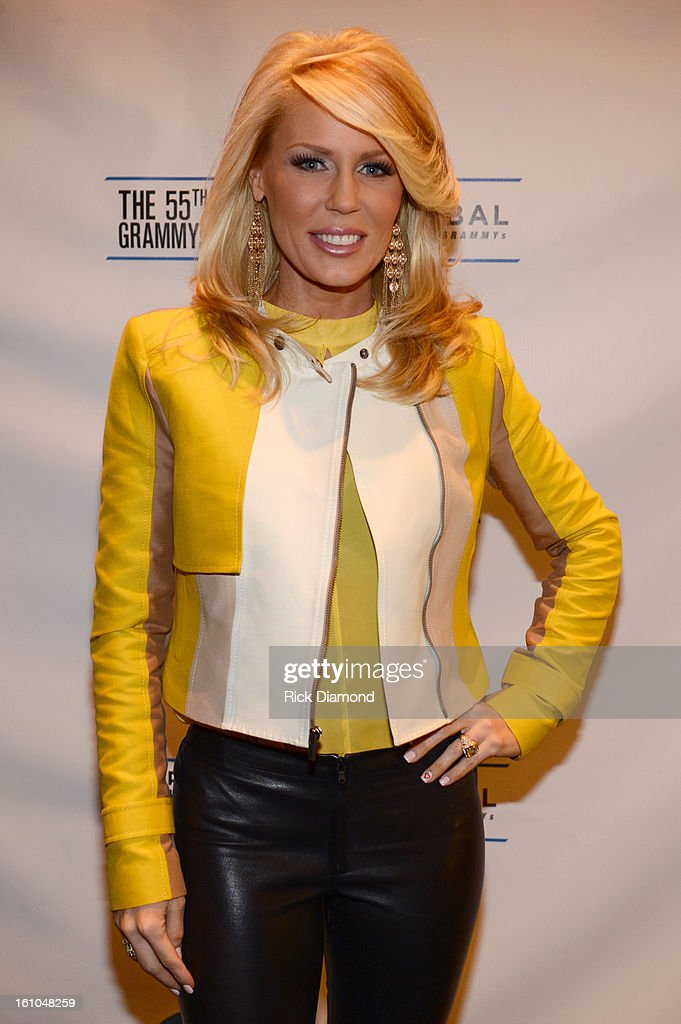 TV personality <a gi-track='captionPersonalityLinkClicked' href=/galleries/search?phrase=Gretchen+Rossi&family=editorial&specificpeople=5637804 ng-click='$event.stopPropagation()'>Gretchen Rossi</a> poses backstage at the GRAMMYs Dial Global Radio Remotes during The 55th Annual GRAMMY Awards at the STAPLES Center on February 7, 2013 in Los Angeles, California.
