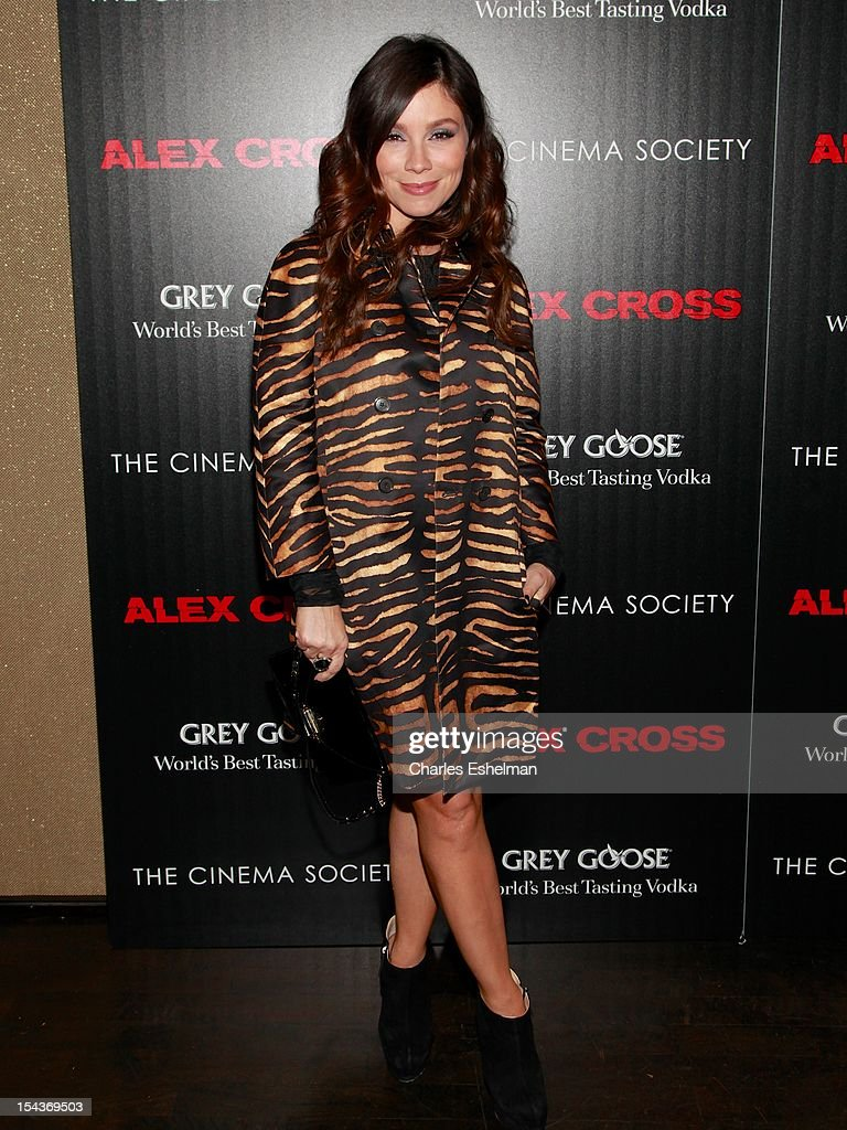 TV personality Gretta Monahan attends The the Cinema Society & Grey Goose screening of 'Alex Cross' at Tribeca Grand Screening Room on October 18, 2012 in New York City.