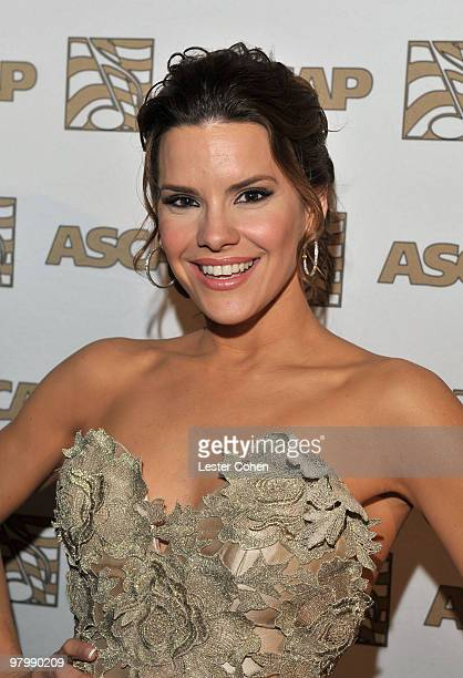 TV personality Greydis Gil arrives at 18th Annual ASCAP Latin Music Awards at The Beverly Hilton hotel on March 23 2010 in Beverly Hills California