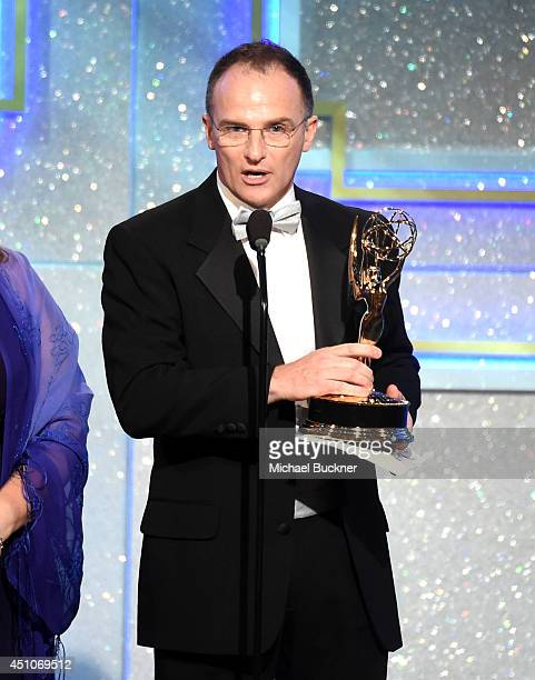 TV personality Guillermo Arduino accepts Outstanding Entertainment Program in Spanish for 'Clix' onstage during The 41st Annual Daytime Emmy Awards...