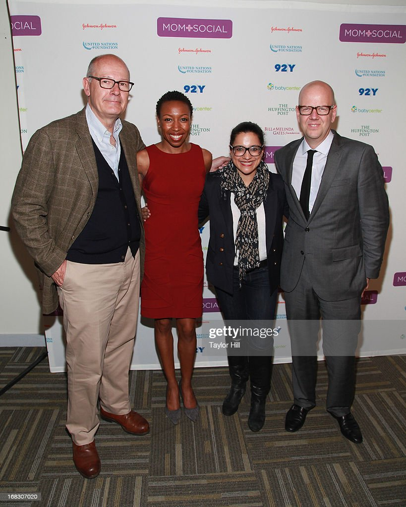 TV personality Harry Smith, Tiffany Dufu of Levo League, Reshma Saujani of Girls Who Code, and John Gerzema of BAV Consulting attend the Mom + Social Event at the 92Y Tribeca on May 8, 2013 in New York City.