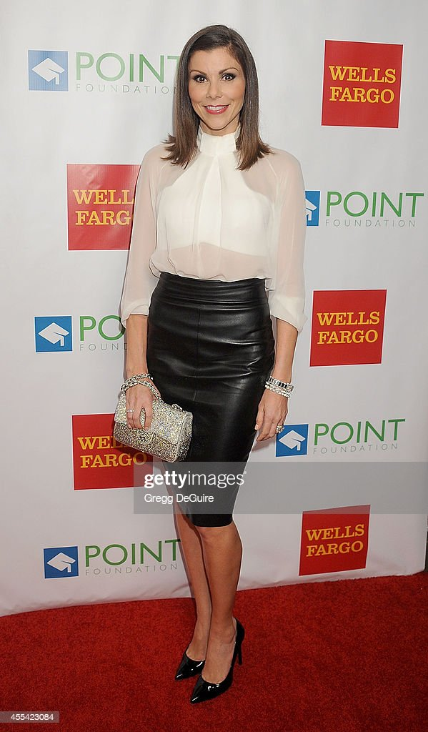 TV personality Heather Dubrow arrives at Point Foundation's Annual 'Voices On Point' Fundraising Gala at the Hyatt Regency Century Plaza on September 13, 2014 in Century City, California.