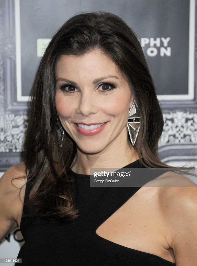 TV personality Heather Dubrow arrives at the Family Equality Council's Annual Los Angeles Awards Dinner at The Globe Theatre on February 8, 2014 in Universal City, California.