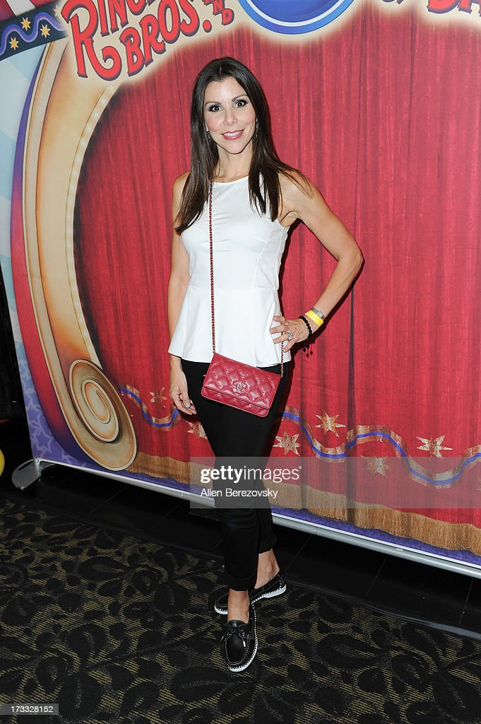 TV personality Heather Dubrow attends the celebrity premiere of Ringling Bros. and Barnum & Bailey's 'Built To Amaze!' tour at Staples Center on July 11, 2013 in Los Angeles, California.