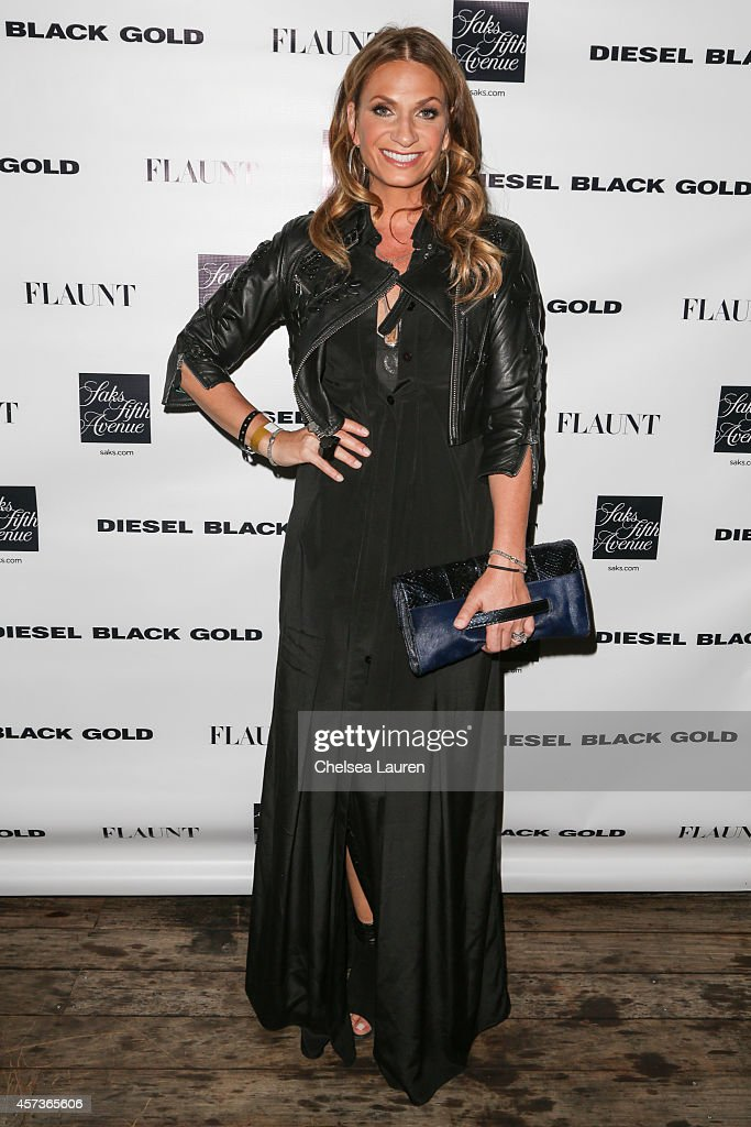 TV personality Heather Thomson attends the Diesel Black Gold at Saks Fifth Avenue Launch and Flaunt Magazine 15th anniversary celebration party at...