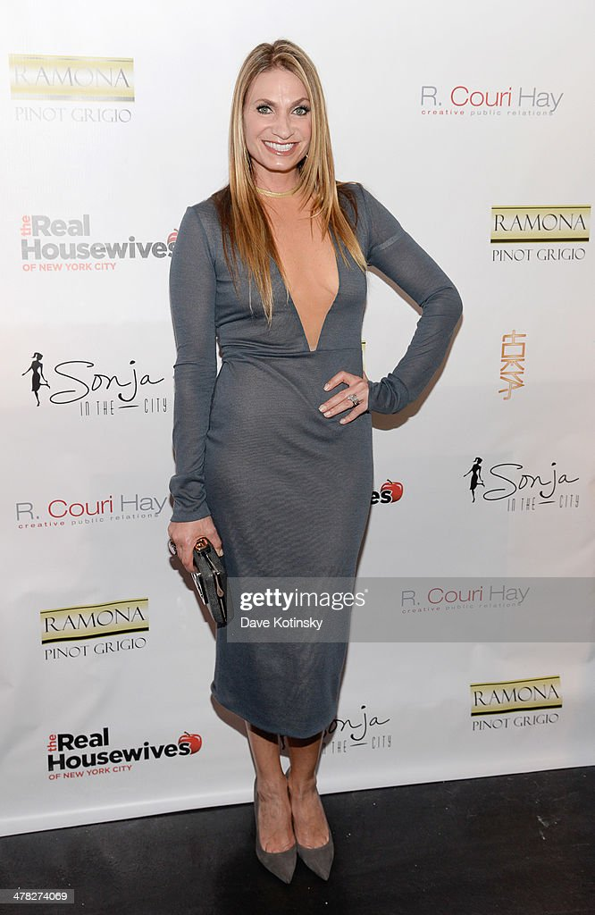 TV personality <a gi-track='captionPersonalityLinkClicked' href=/galleries/search?phrase=Heather+Thomson&family=editorial&specificpeople=5514594 ng-click='$event.stopPropagation()'>Heather Thomson</a> attends the 'The Real Housewives Of New York City' season six premiere party at Tokya on March 12, 2014 in New York City.