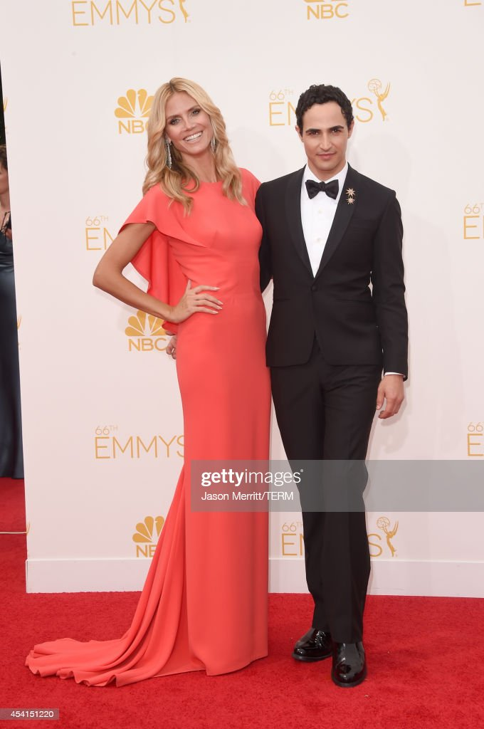 TV personality Heidi Klum and designer Zac Posen attend the 66th Annual Primetime Emmy Awards held at Nokia Theatre LA Live on August 25 2014 in Los...