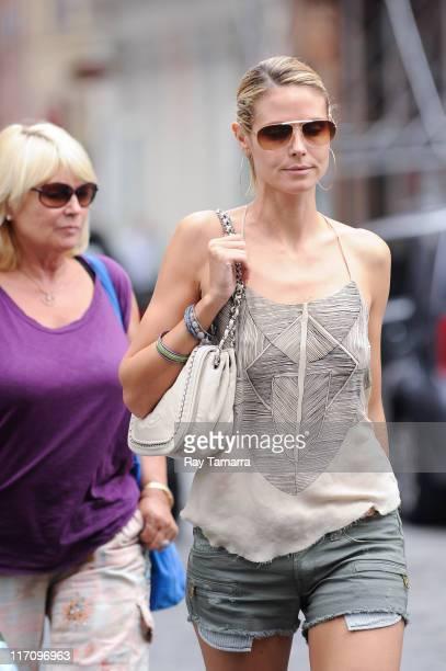TV personality Heidi Klum and Erna Klum walk in Soho on June 21 2011 in New York City