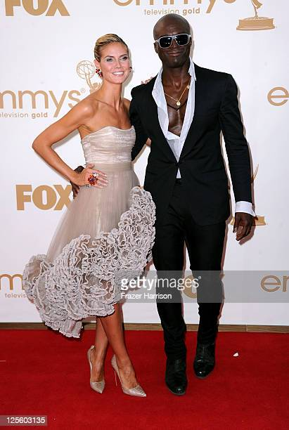 TV personality Heidi Klum and singer Seal arrive at the 63rd Annual Primetime Emmy Awards held at Nokia Theatre LA LIVE on September 18 2011 in Los...