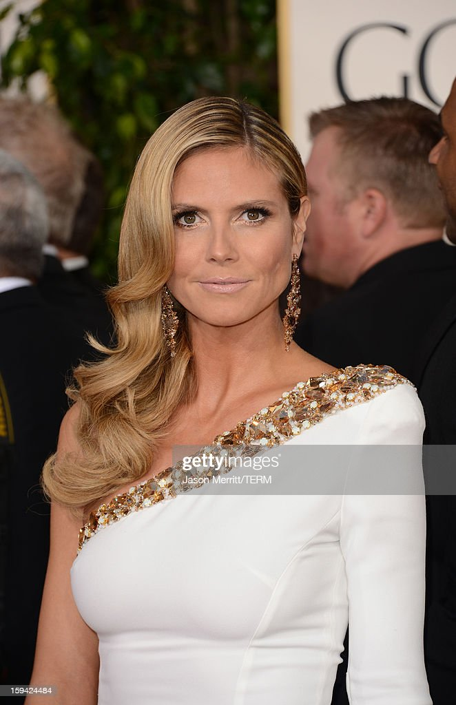 TV Personality Heidi Klum arrives at the 70th Annual Golden Globe Awards held at The Beverly Hilton Hotel on January 13, 2013 in Beverly Hills, California.