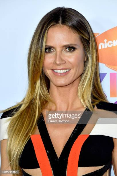 TV personality Heidi Klum at Nickelodeon's 2017 Kids' Choice Awards at USC Galen Center on March 11 2017 in Los Angeles California
